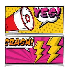 pop art comic book vector image