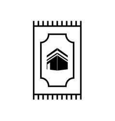Prayer mat icon design template vector