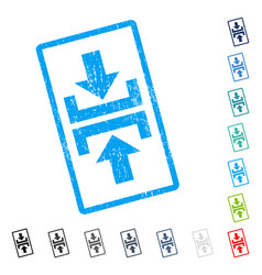 Press vertical direction icon rubber watermark vector