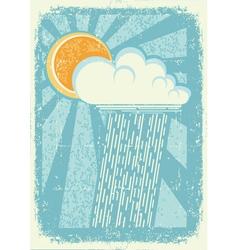 raining sky vector image