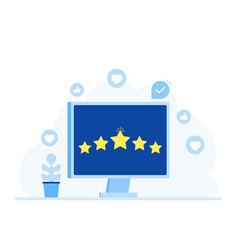 Rating feedback comments design concept vector