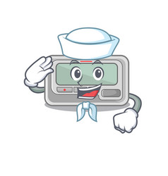 Sailor pager with in mascot shape vector