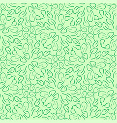 seamless pattern made of small leaves vector image
