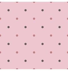 Seamless polka pattern vector image
