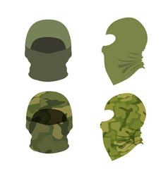 set balaclava caps on a white background vector image