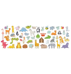 set different animals vector image