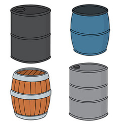 set of barrel vector image