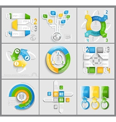 Set of business marketing vector image