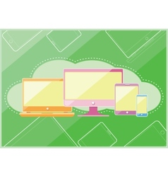 Set of display laptop computer smartphone vector image