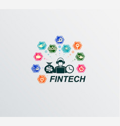 Sign financial technology vector