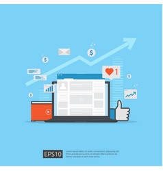 Social media network and digital marketing vector