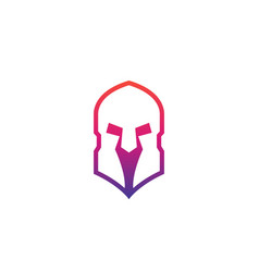Spartan helmet logo with gradient vector