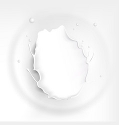 splash milk background with ripple effect splash vector image