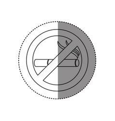 sticker of monochrome silhouette of sign no vector image