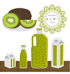 the theme kiwi vector image