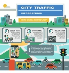 Traffic Infographics Set vector