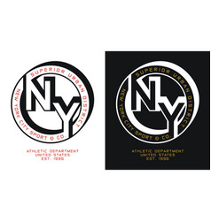 Typography athletic ny sport slogan for t-shirt vector