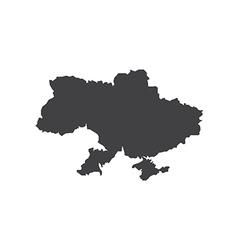 Ukraine map silhouette vector image