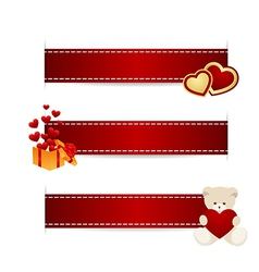 valentines ribbons 1312 01 vector image