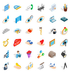 Work man icons set isometric style vector