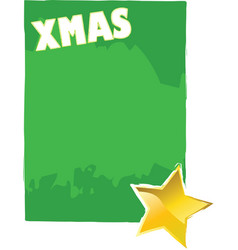 xmas card with star vector image