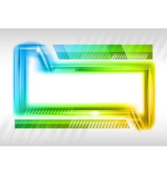 abstract shape rainbow vector image vector image