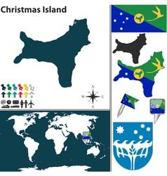 Christmas Island world map vector image vector image