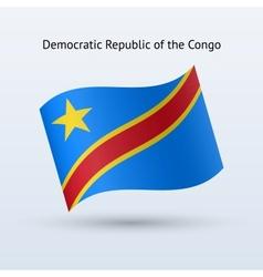 Democratic Republic of the Congo flag waving form vector image
