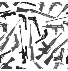 Firearms weapons and guns seamless pattern eps10 vector