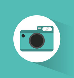 photographic camera picture vacations vector image