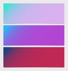Abstract halftone dot pattern horizontal banner - vector
