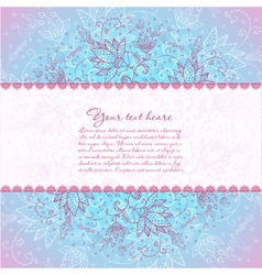 blue background with rose flower horizontal text vector image vector image
