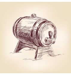 cask of wine drawing vector image