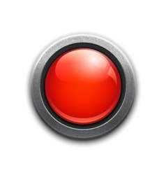 Large red button vector image vector image