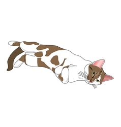 Relaxing cat vector image vector image