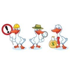 Goose Mascot with sign vector image