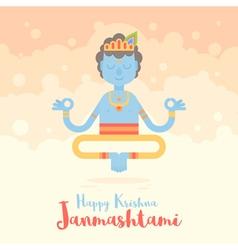 Hindu God Krishna cartoon character f vector image