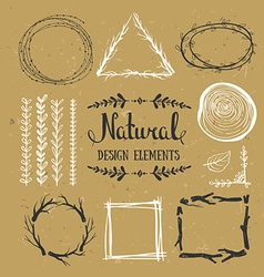 Natural design elements Forest frames on the vector image vector image