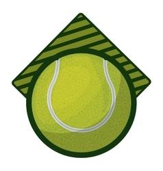Tennis tournament emblem with ball vector
