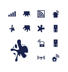 13 spot icons vector