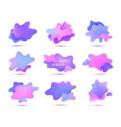3d gradient spots fluid bubbles isolated vector image