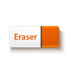 3d rubber eraser for office stationery vector image
