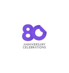 80 years anniversary celebration logo icon vector