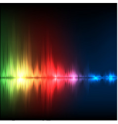 Abstract equalizer background green-red-blue wave vector
