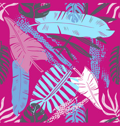 abstract seamless tropical leaves pattern vector image