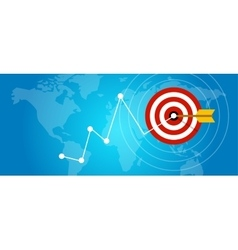 achieving target strategy improvement concept vector image