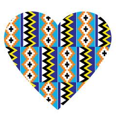african tribal heart design kente nwentoma pattern vector image