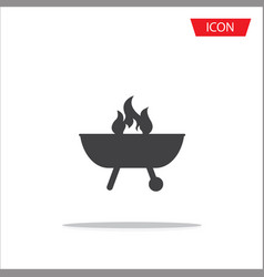 barbecue icon isolated on white background vector image
