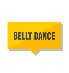 belly dance price tag vector image