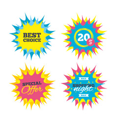 best choice sign icon special offer symbol vector image